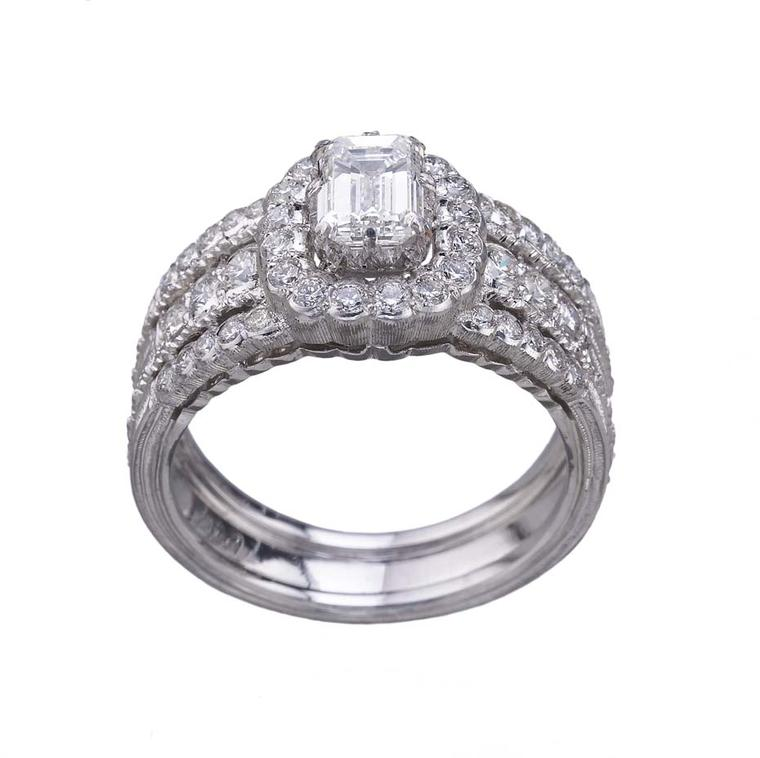 Buccellati Romanza diamond engagement ring - one of eight new designs that make up the new Romanza bridal collection