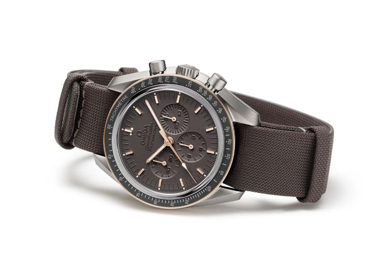 Omega's Speedmaster Professional Apollo 11 45th Anniversary, limited to 1,969 pieces, was presented on a hard-wearing NATO strap