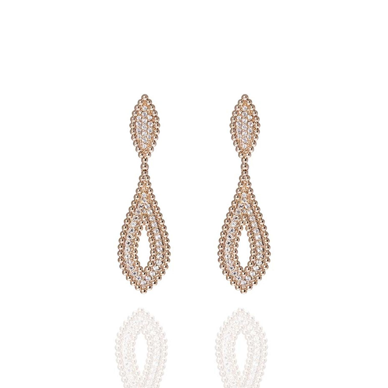 Carla Amorim Russia Collection rose gold Fountain earrings, inspired by the Peterhof Palace, known to many as the 'Russian Versailles.'
