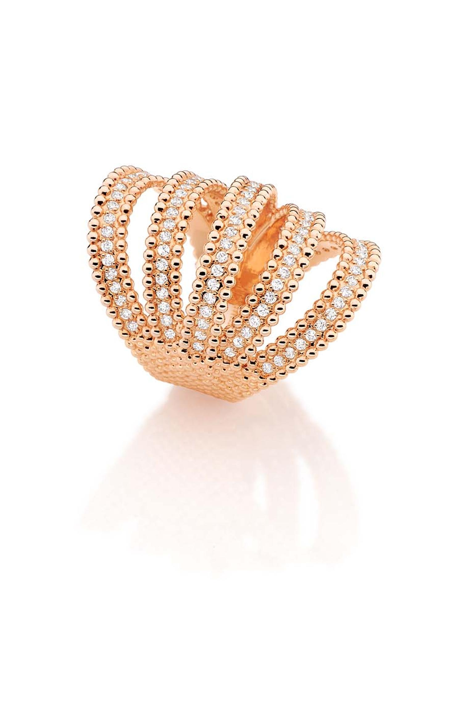 Carla Amorim Russia Collection rose gold Fountain ring, inspired by the architecture of the Peterhof.