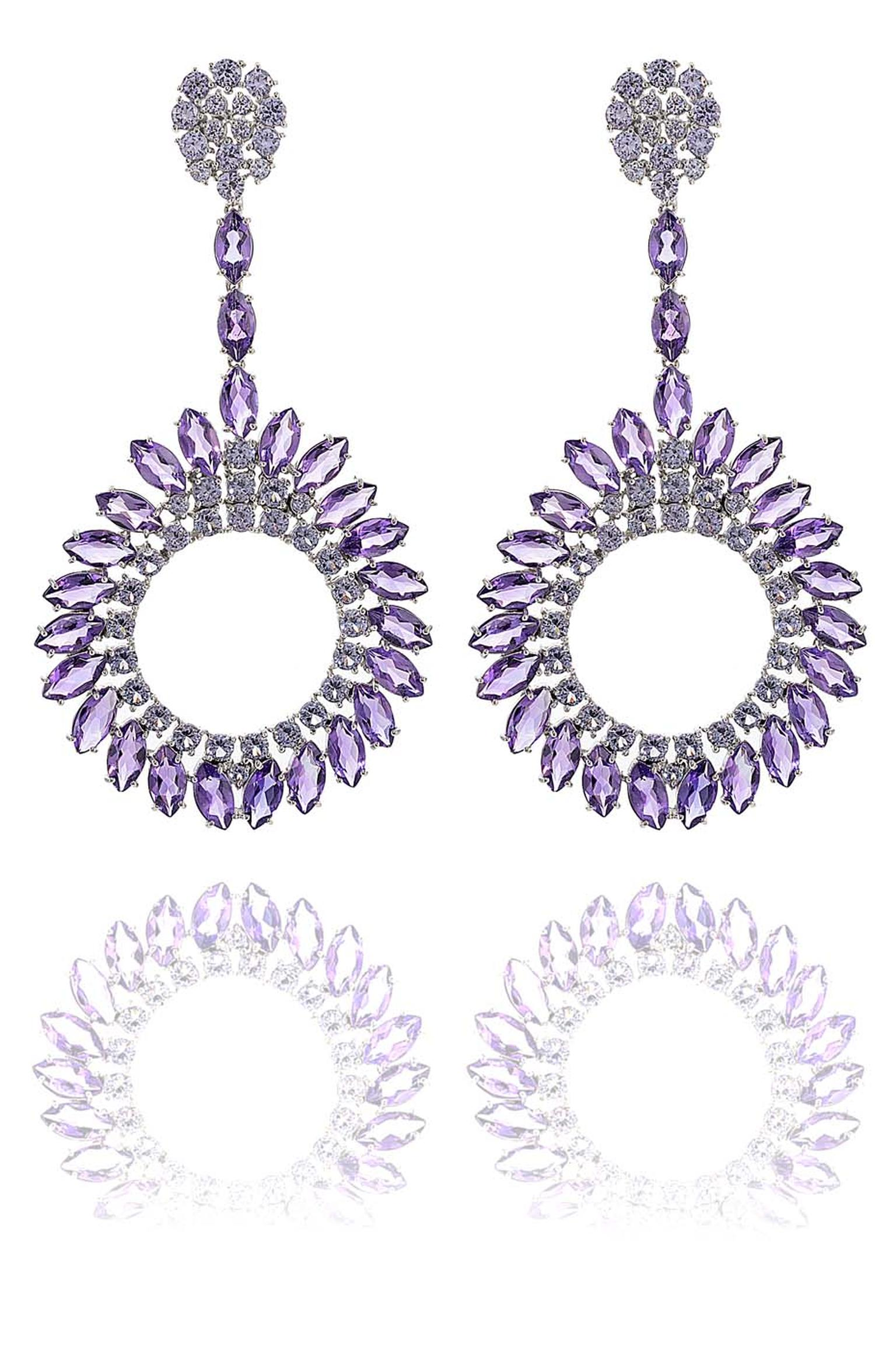Carla Amorim Russia Collection Iceberg earrings.