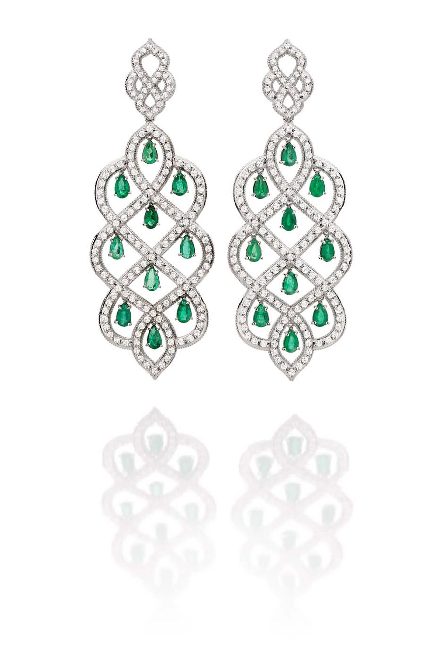 Carla Amorim Russia Collection Taiga emerald earrings, inspired by the Russian Boreal forests
