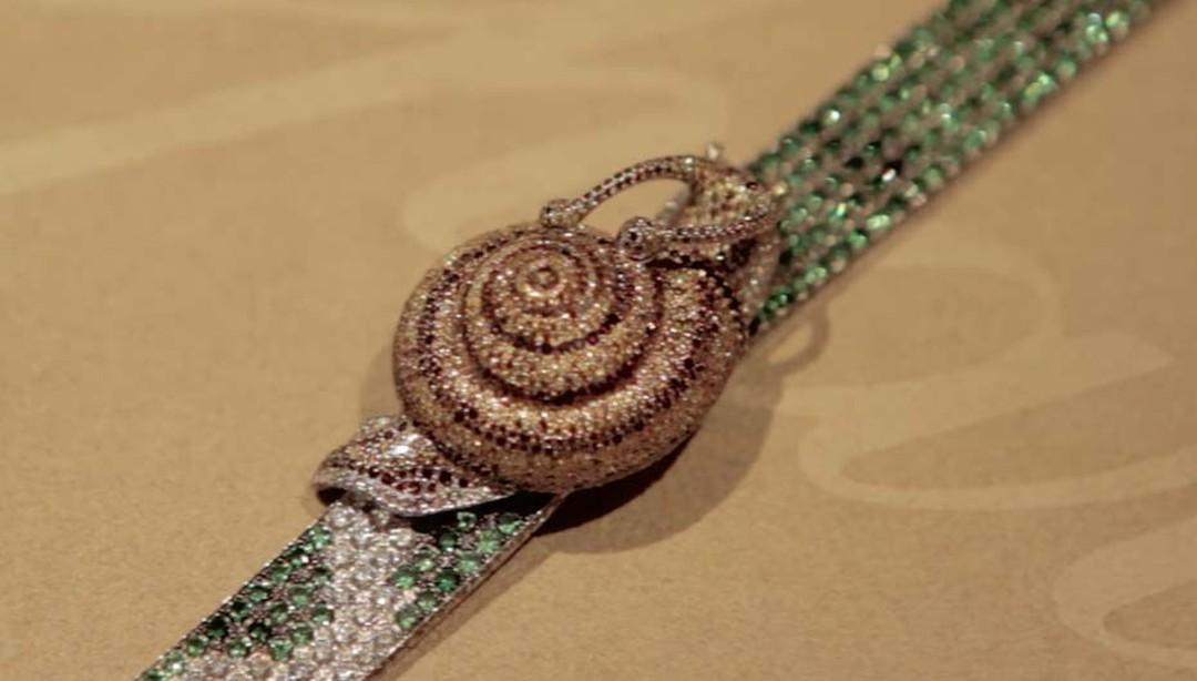 Chopard's whimsical Snail bracelet from the Animal World collection