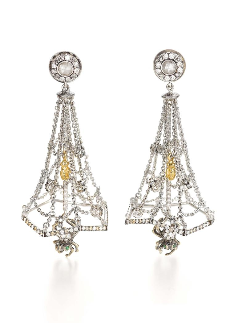 Vieri by Bibi van der Velden Cobweb earrings