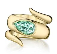 Erica Courtney green tourmaline wrap ring in gold