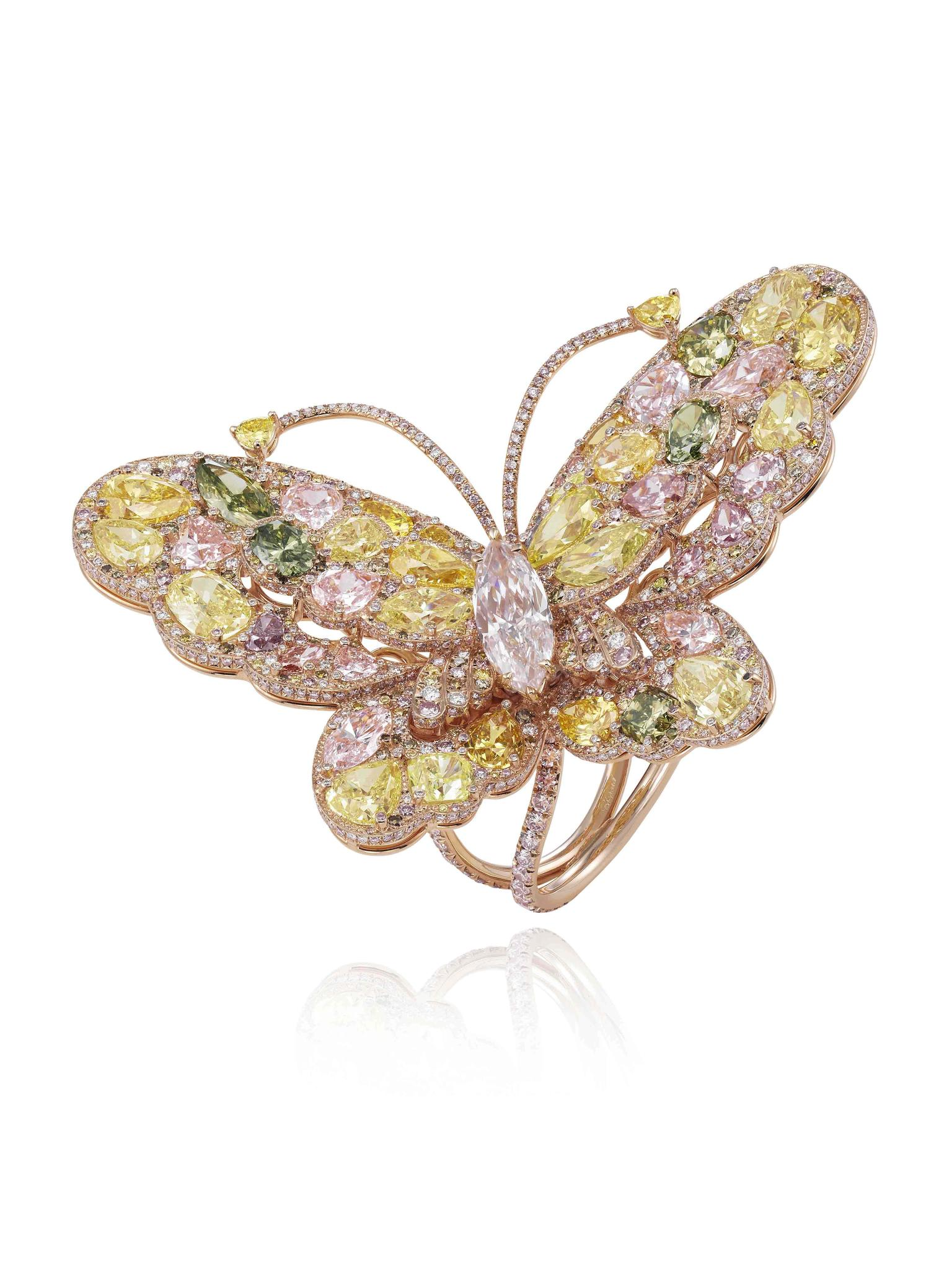 Chopard Red Carpet Collection 2014 Butterfly ring
