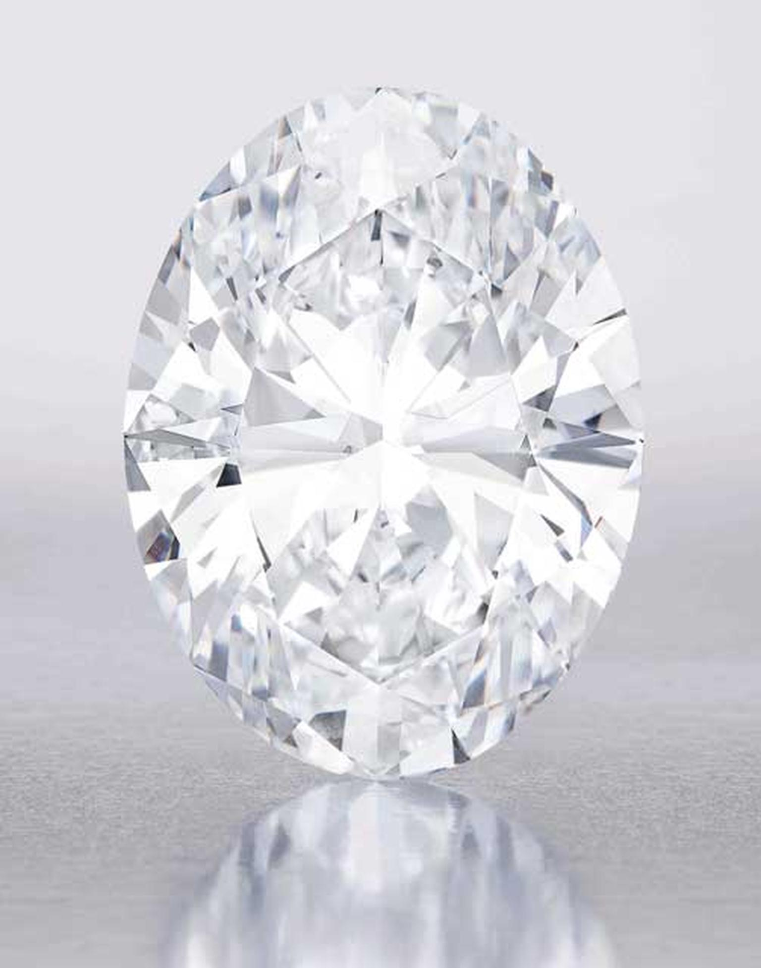 This flawless Oval diamond sold at Sotheby's Hong Kong in October 2013 for $30.6m, taking the world record for the highest price ever paid for a colourless diamond at auction.