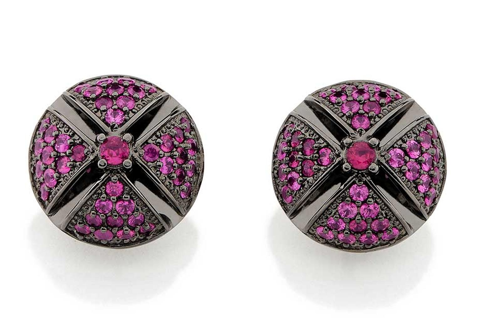 Carla Amorim Russia Collection Dome ruby earrings, inspired by the domes of St Basil's Cathedral in Moscow's Red Square