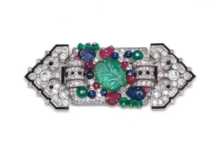 London antique jewellery dealer Symbolic & Chase's example of a rare Cartier Tutti Frutti brooch.