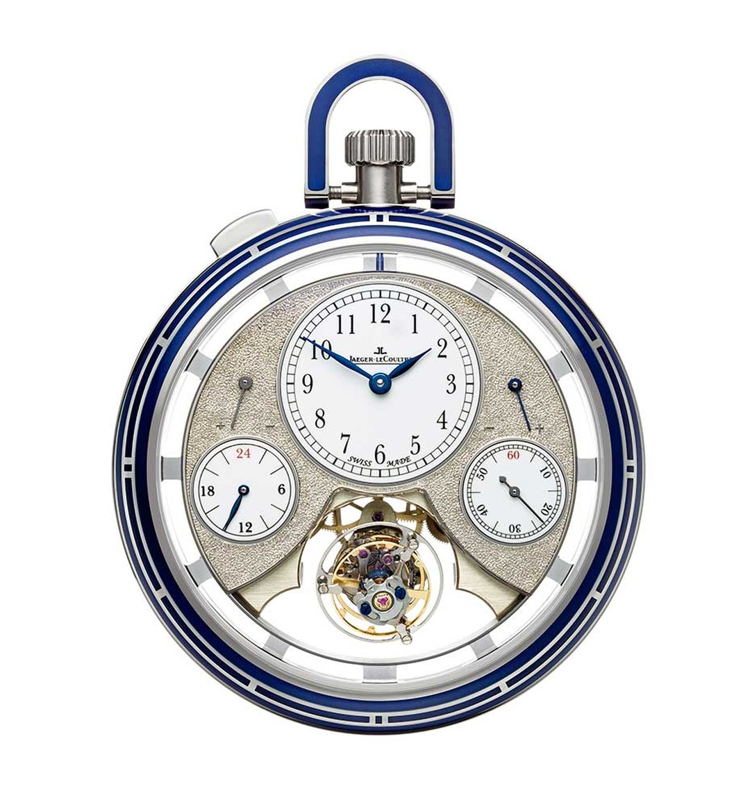 Jaeger-LeCoultre Duomètre Sphérotourbillon pocket watch is the first one to include a  spherical tourbillon.