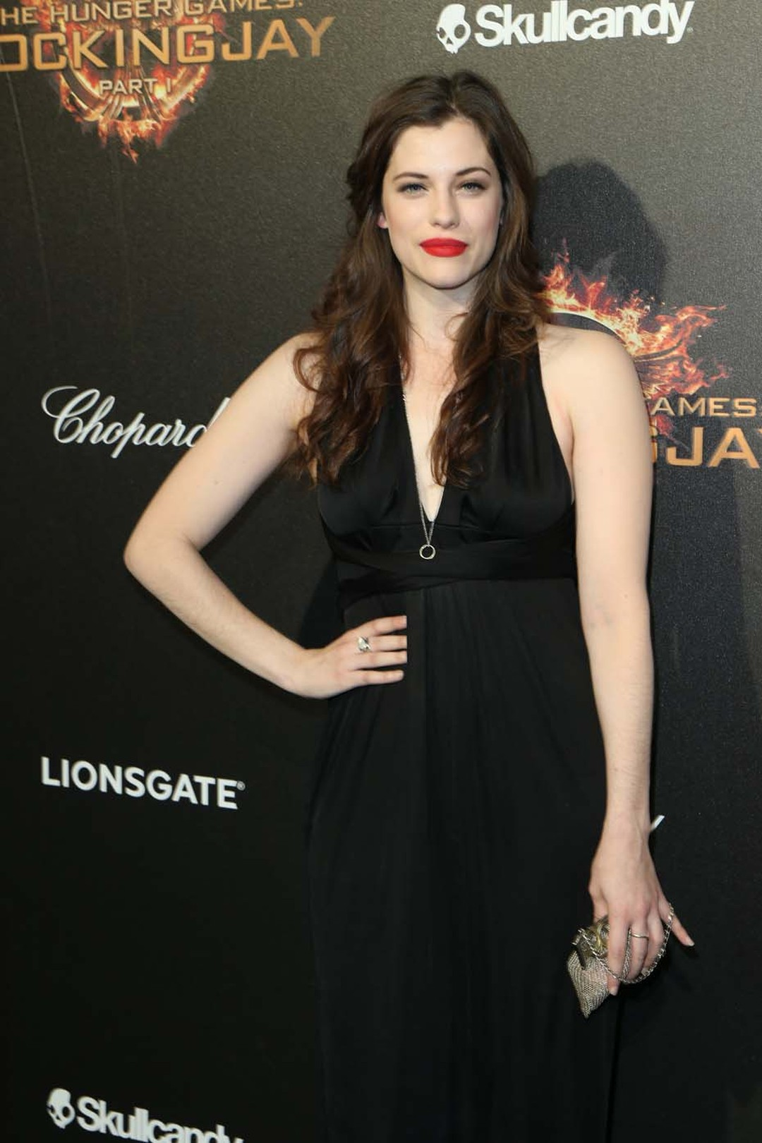 Mina Murray at the Hunger Games party wearing Chopard.