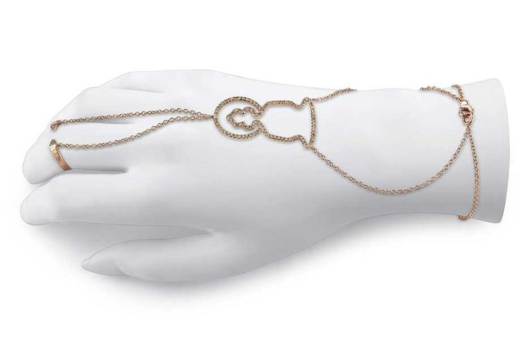 Borgioni will launch its pavé brown diamond hand bracelet, linked by delicate chains with a hint of naughtiness, at the Couture Show Las Vegas