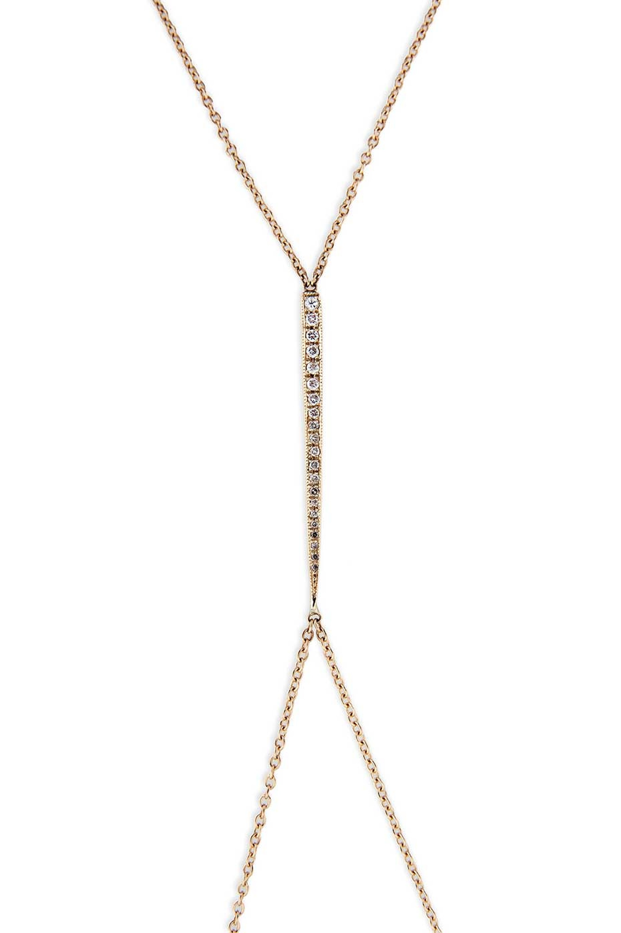 LA-based designer Jacquie Aiche also has a range of body jewels that she will be unveiling at the Couture Show Las Vegas, including this yellow gold pavé diamond Icepick design