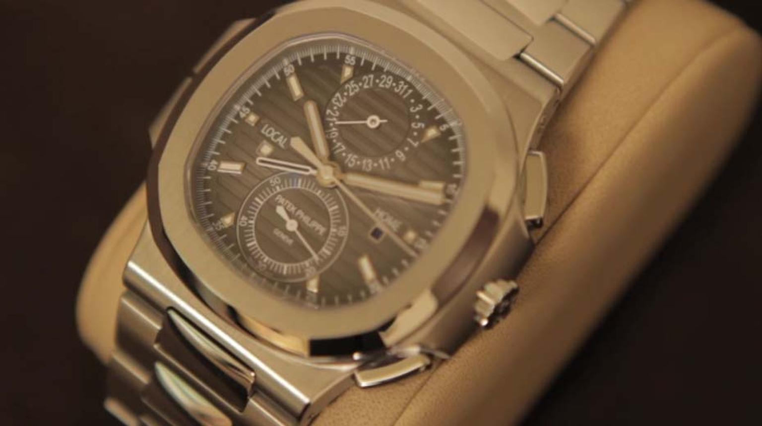 Thierry Stern fondly remembers his first Patek Philippe watch, which was the same shape as the newest Patek Philippe Nautilus, with its new travel time movement
