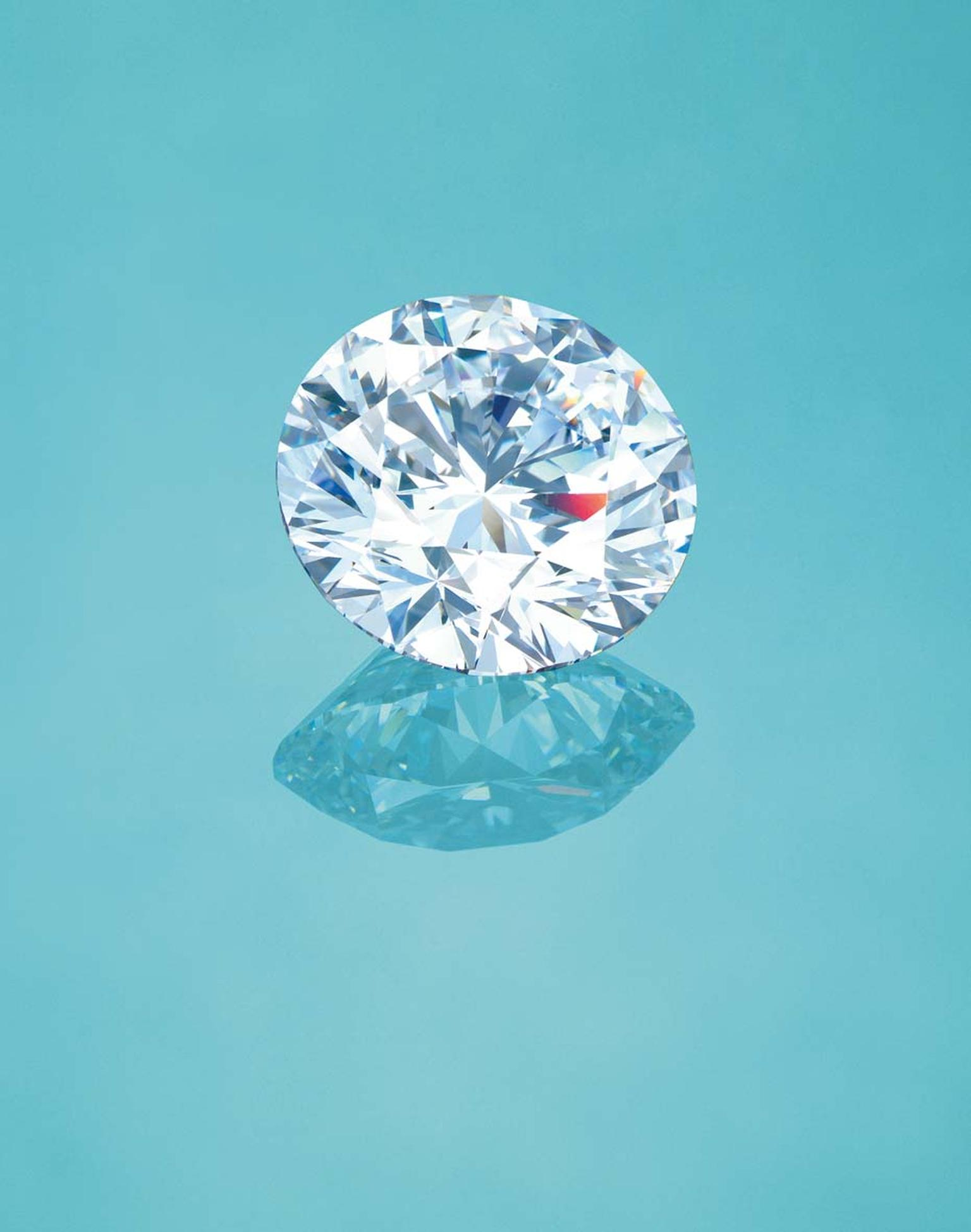 Christie's Hong Kong unmounted brilliant-cut diamond graded as 'D Flawless,' the highest accolade for colour and clarity with no internal or external imperfections. (estimate: US$4,000,000-6,500,000).