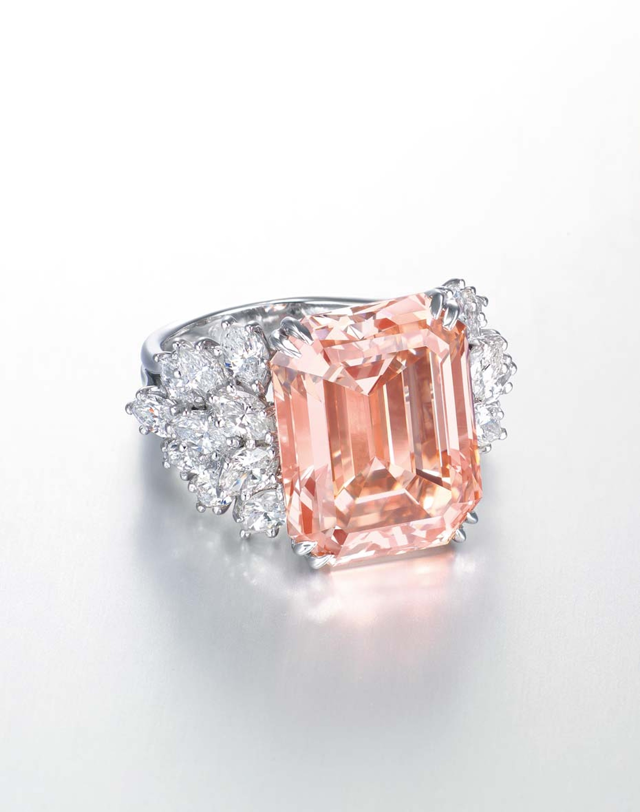 Harry Winston 12.93ct orangey-pink diamond ring (estimate: US$1.6-2.5 million)