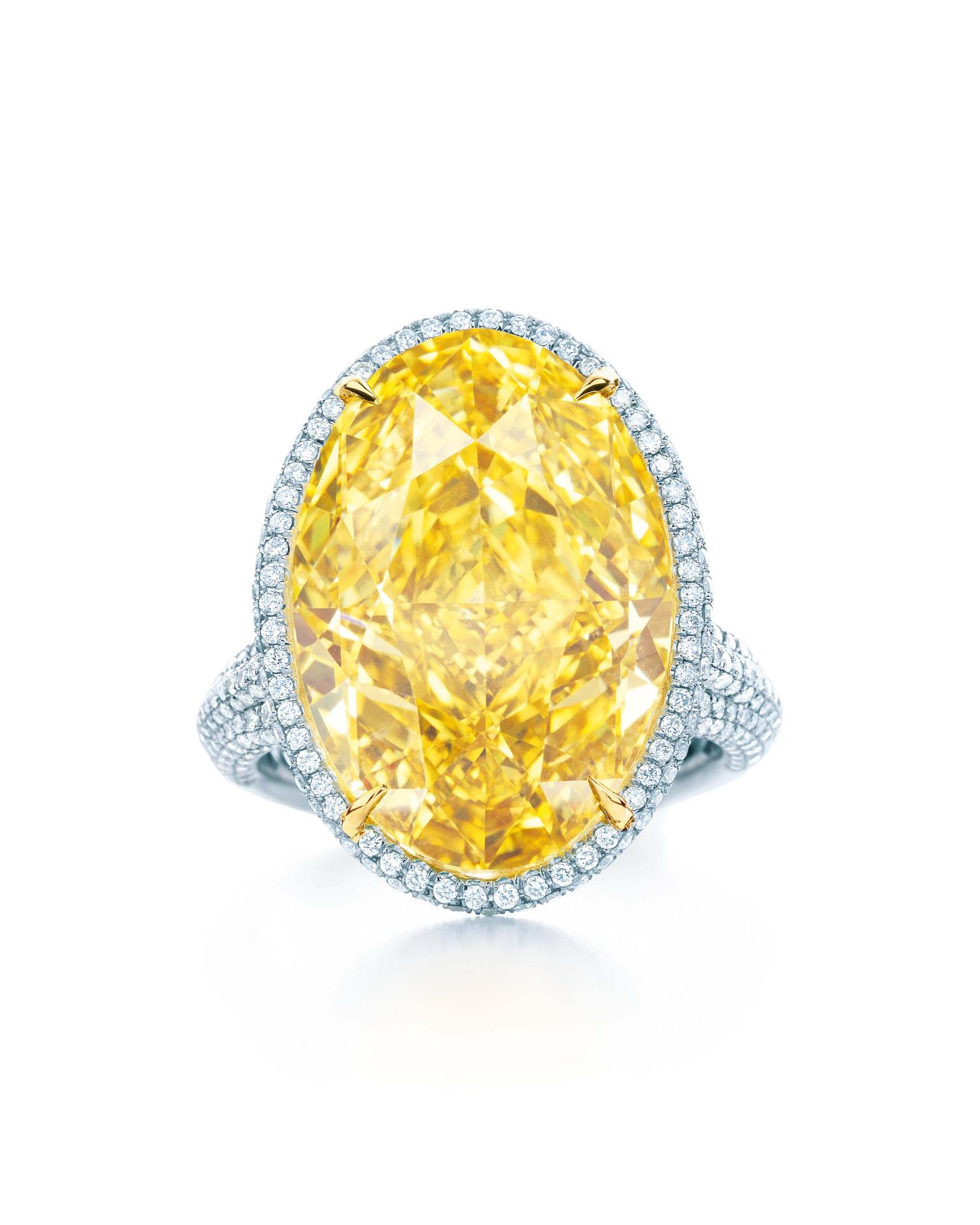 Tiffany & Co. Blue Book Collection 15.04ct Fancy Vivid yellow diamond ring set in platinum and gold (£POA)