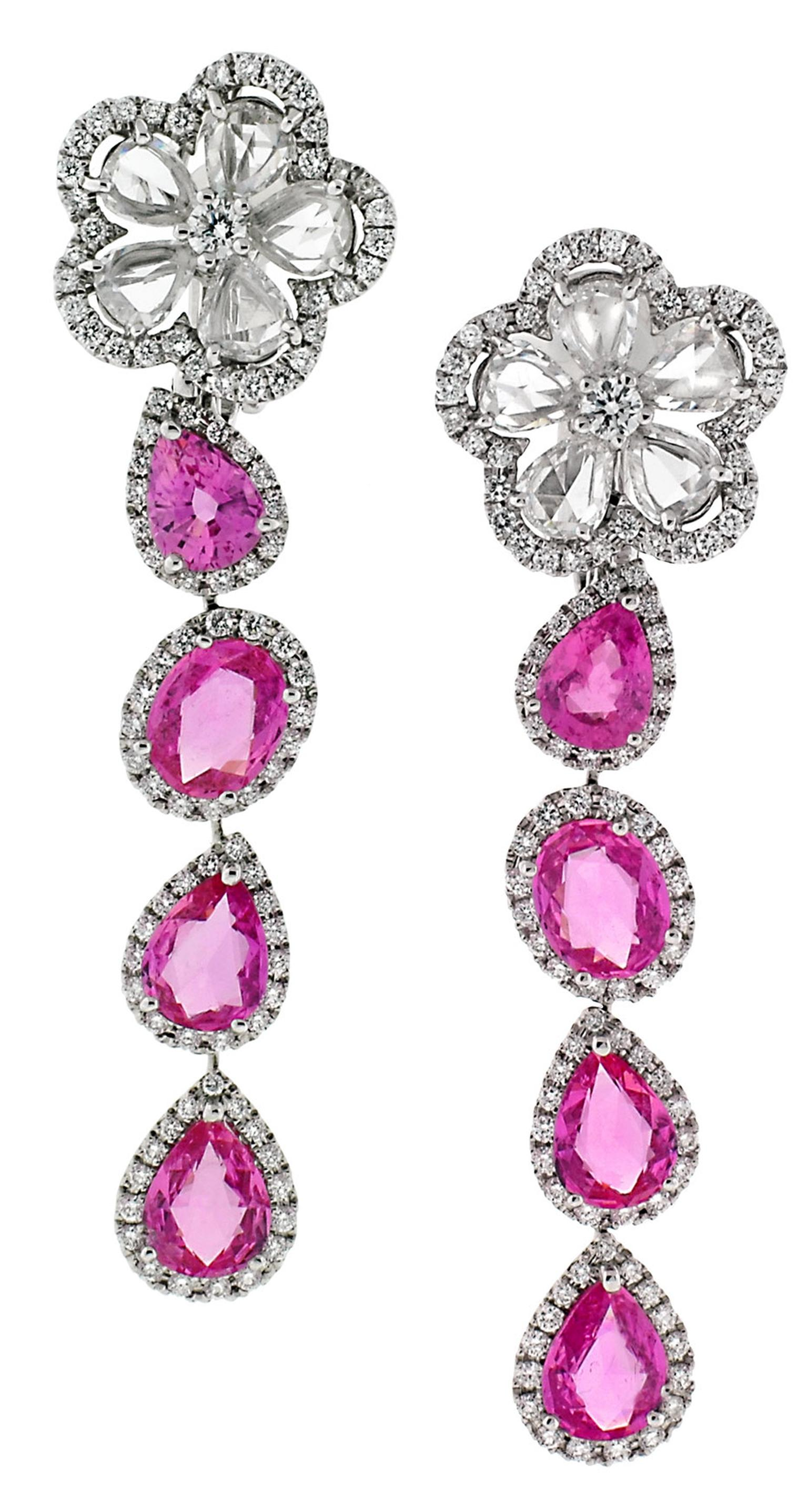 Kelly Preston also wore matching pink sapphire and diamond Avakian earrings