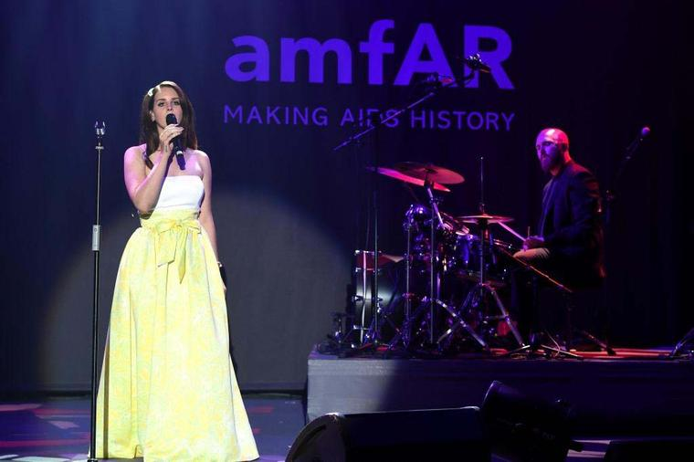 Lana del Rey performed during the amfAR Charity Gala in Cannes, which raised $38 million to fund HIV/AIDS research
