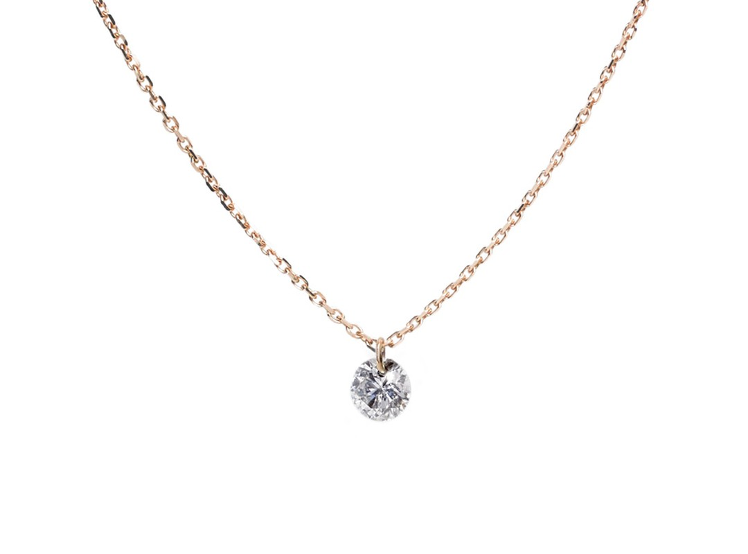 Raphaele Canot Set Free Diamonds collection white gold and diamond pendant