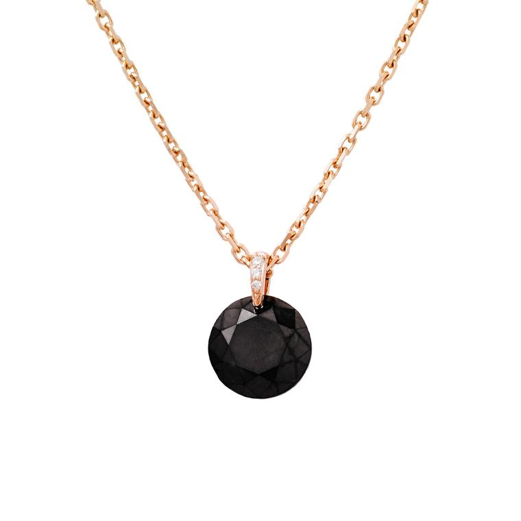 Raphaele Canot Set Free Diamonds collection gold and black diamond pendant with micro pavé detail