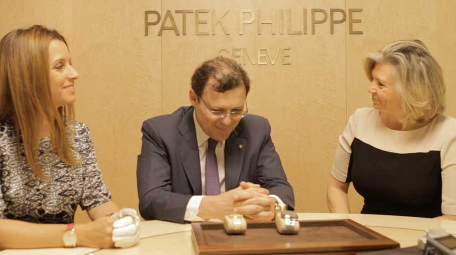 Maria Doulton sat down with Thierry Stern, President of Patek Philippe, and his wife, Sandrine Stern, who is in charge of design, at Baselworld to discuss the brand's newest watches for men and women: the Nautilus and the Calatrava Moon phase