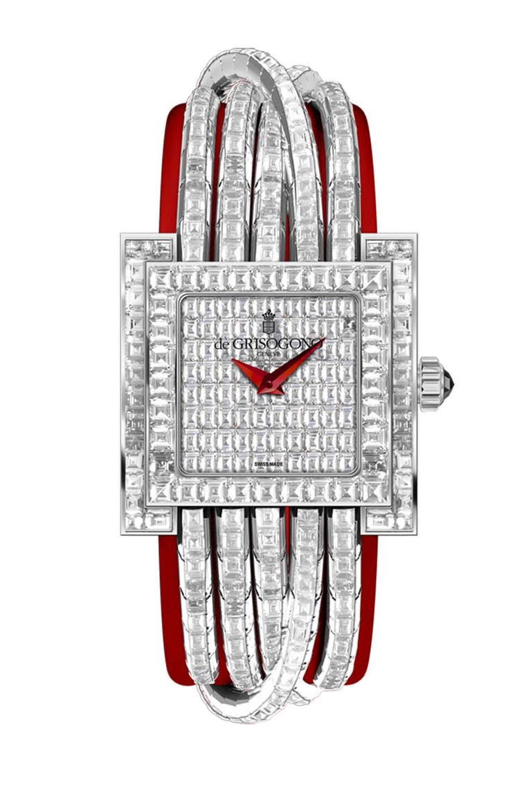 de GRISOGONO Allegra watch in white gold, fully set with diamonds
