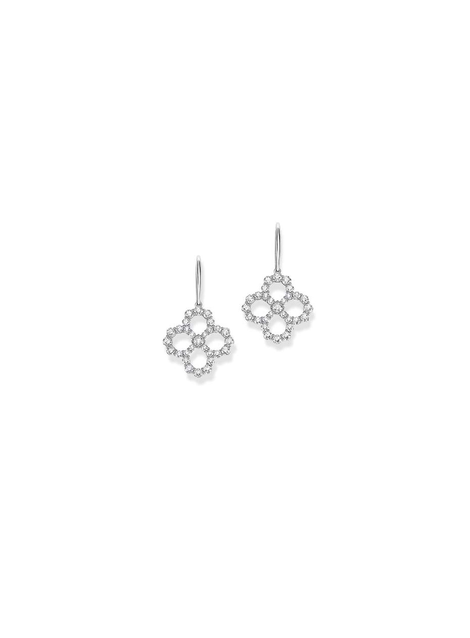 Harry Winston platinum Diamond Loop collection drop earrings.