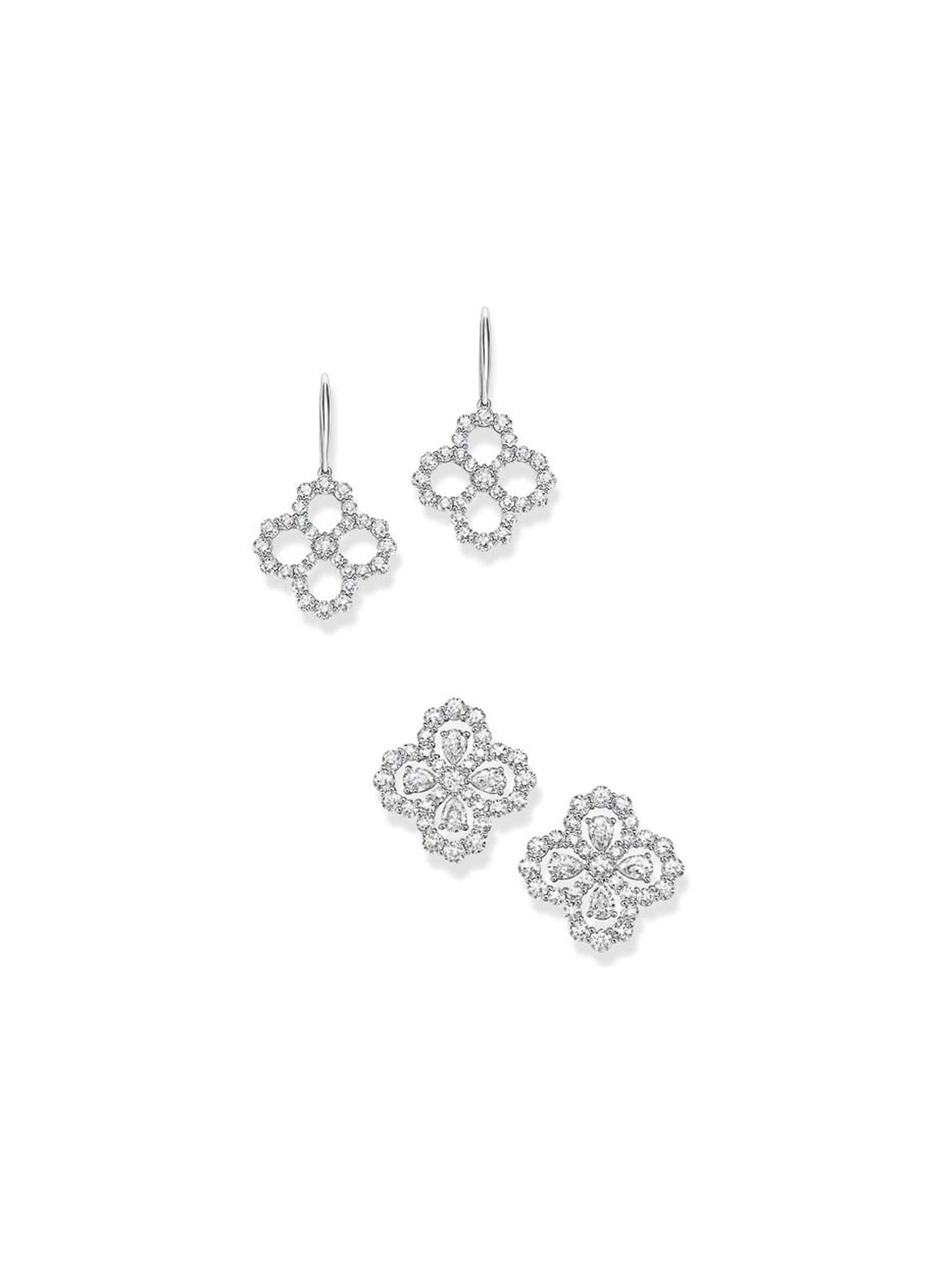 Harry Winston platinum Diamond Loop collection earrings.