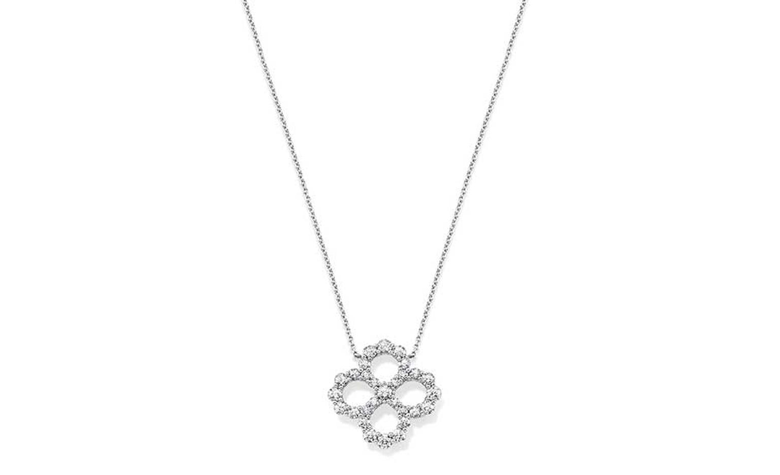 Harry Winston Diamond Loop collection necklace in platinum