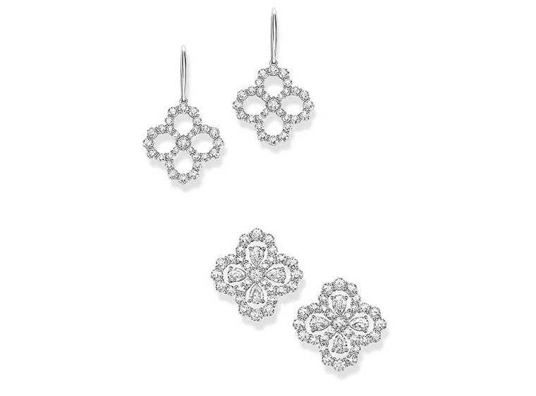 Harry Winston Diamond Loop collection earrings in platinum