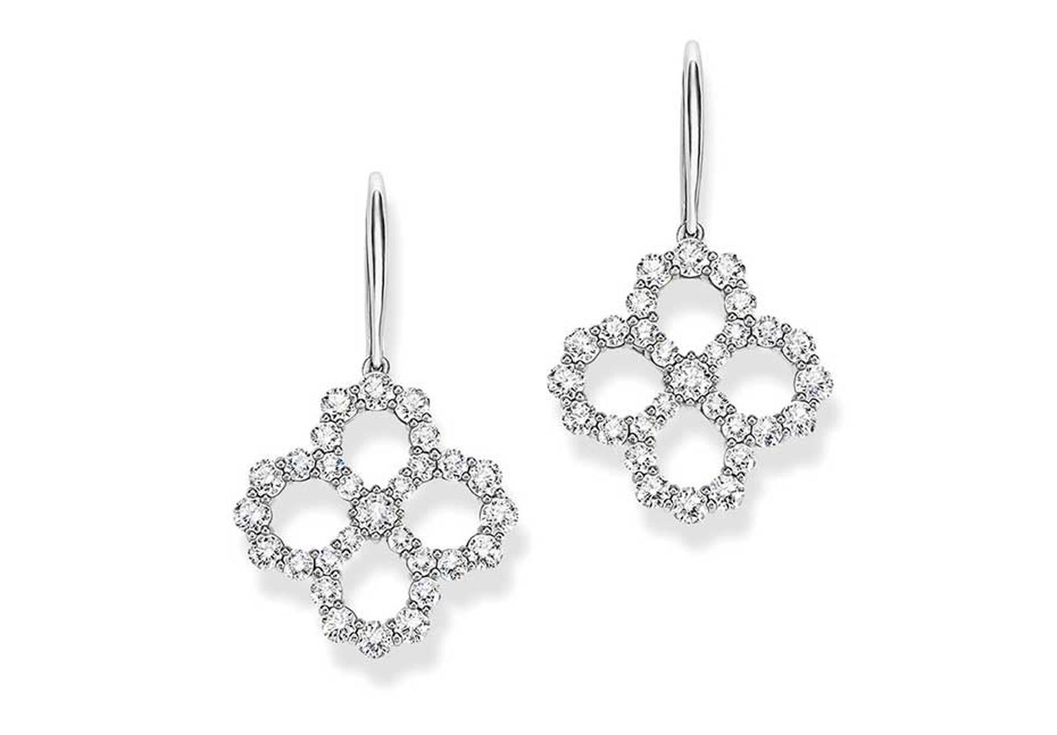 Harry Winston Diamond Loop collection drop earrings in platinum