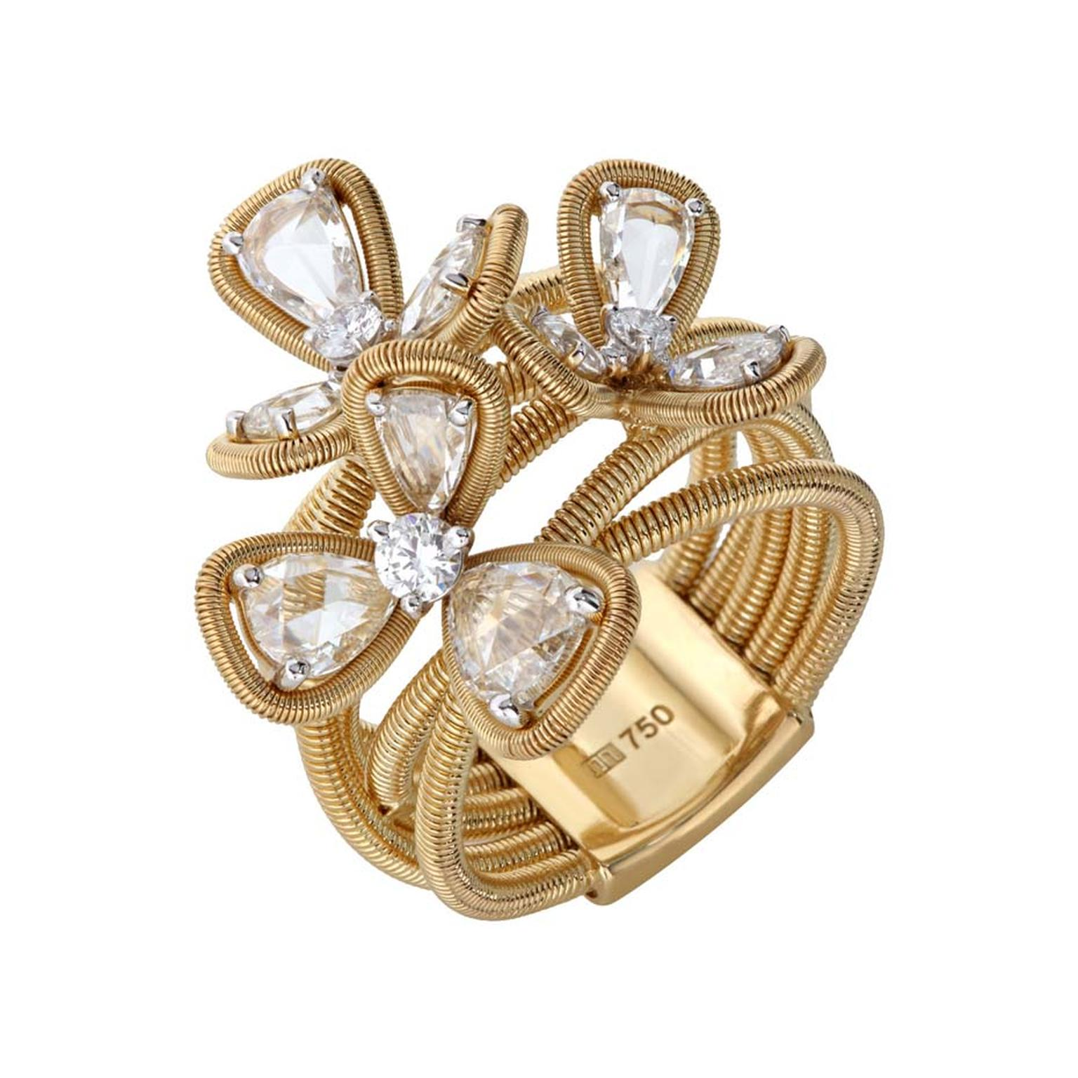 Nirav Modi Orchestra collection yellow gold and diamond ring