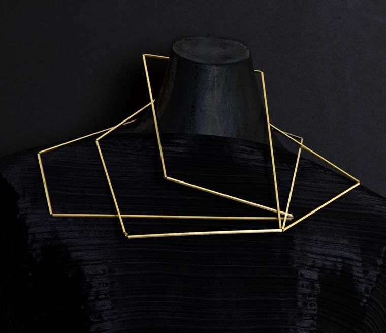 Ute Decker Articulation neck sculpture made from 100% recycled gold (£8,900)