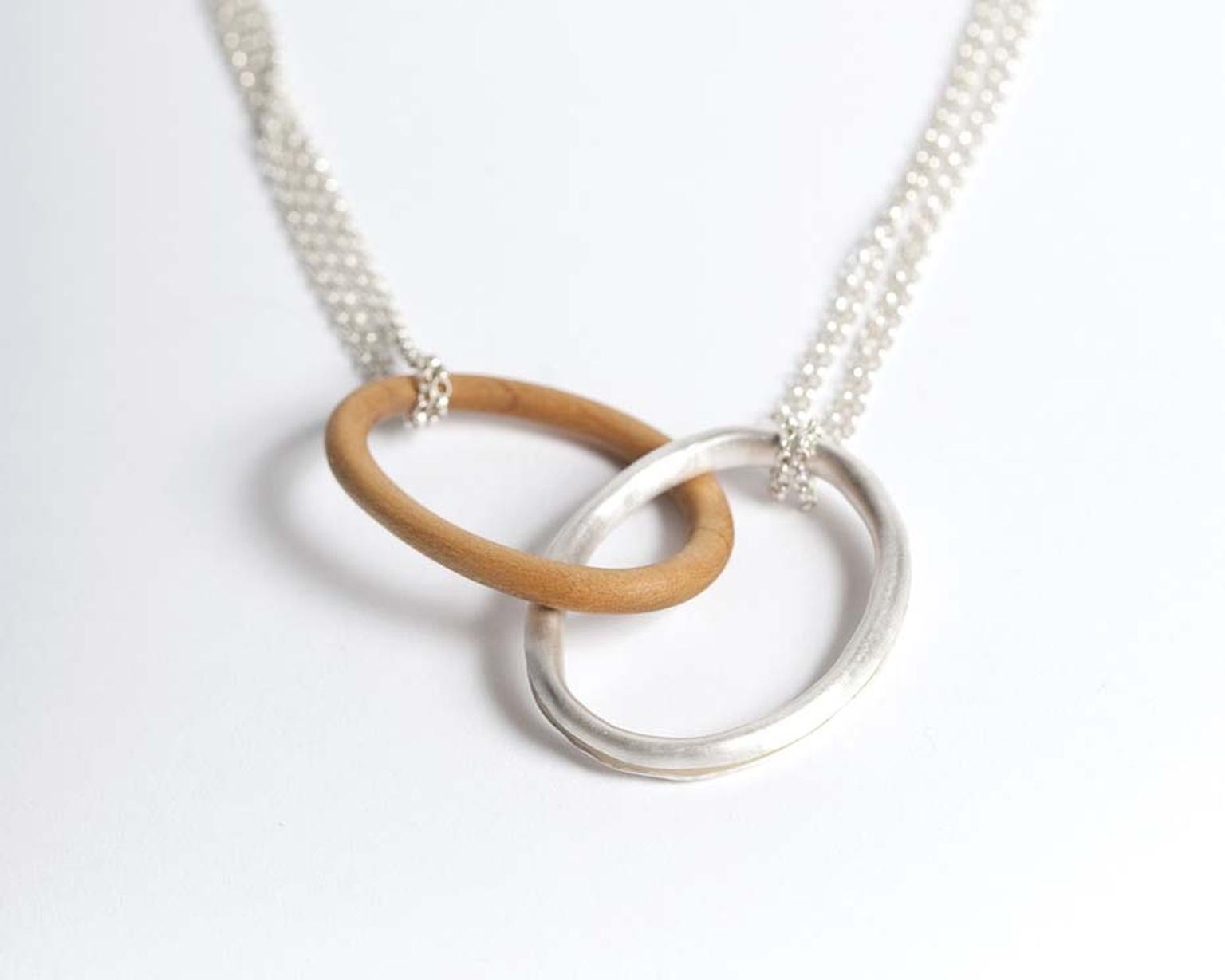 Grace Girvan silver and wood Connect necklace (£280)