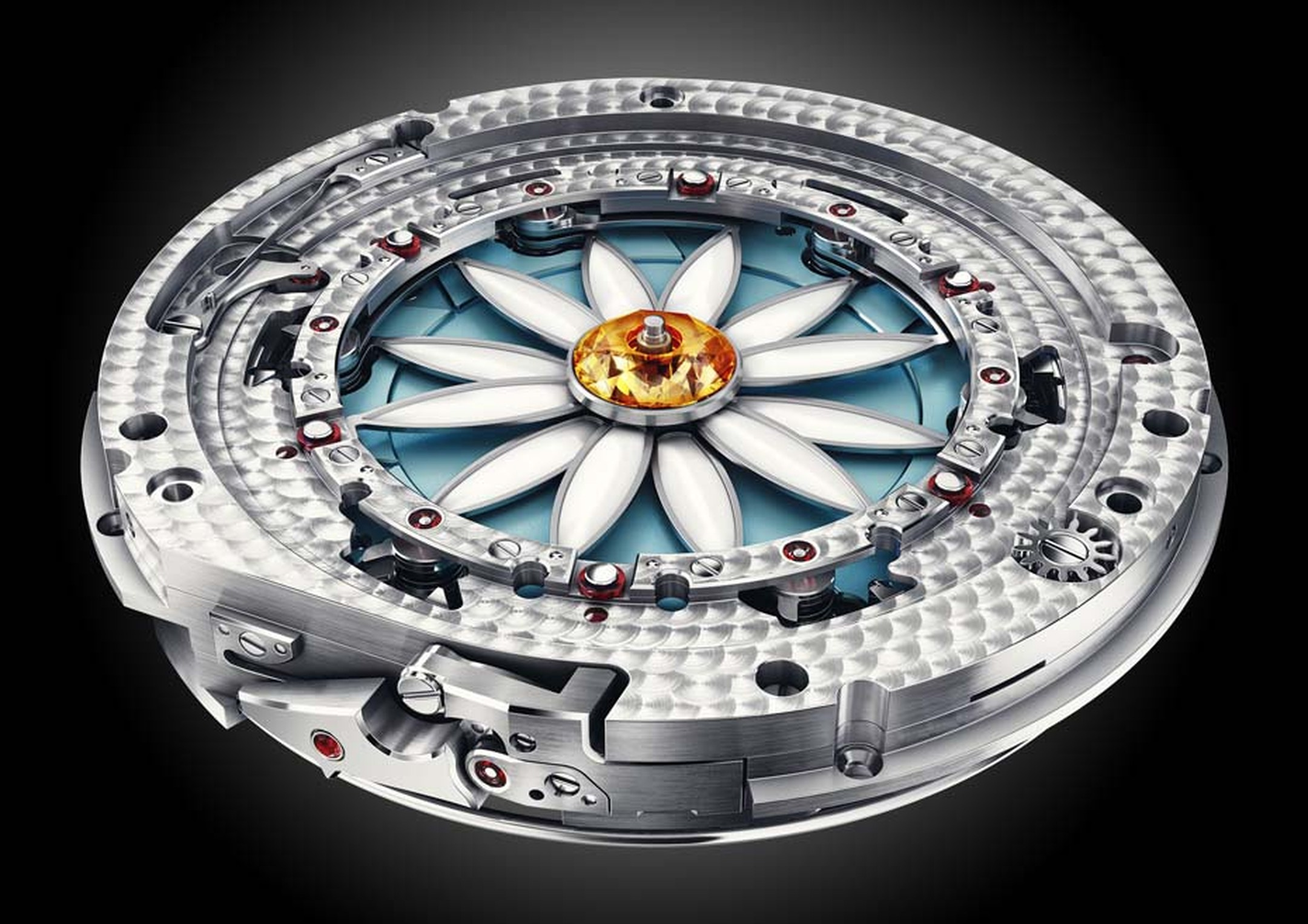 Christophe Claret's Margot watch features 731 individual components and twin barrels for 72 hours of power reserve.