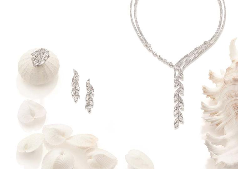 Boodles Dolphin Serenade suite with marquise-cut diamonds, from the new 'Ocean of Dreams' collection