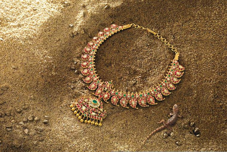 Ganjam gold studded Heritage collection manga-mala necklace.