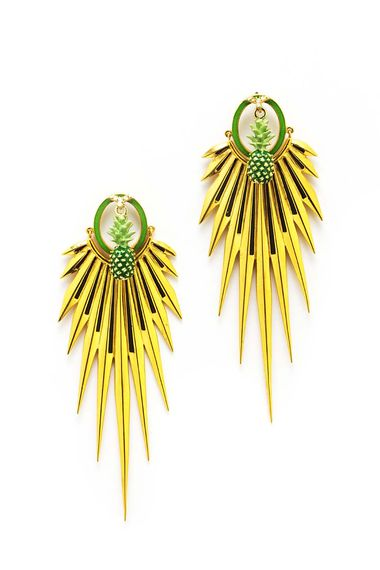 Manish Arora for Amrapali Elma enamelled earrings.