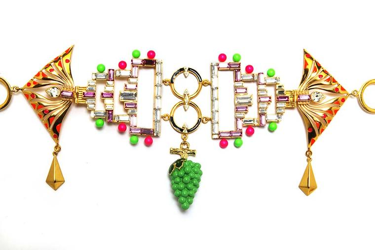 Manish Arora for Amrapali Naro enamelled belt.