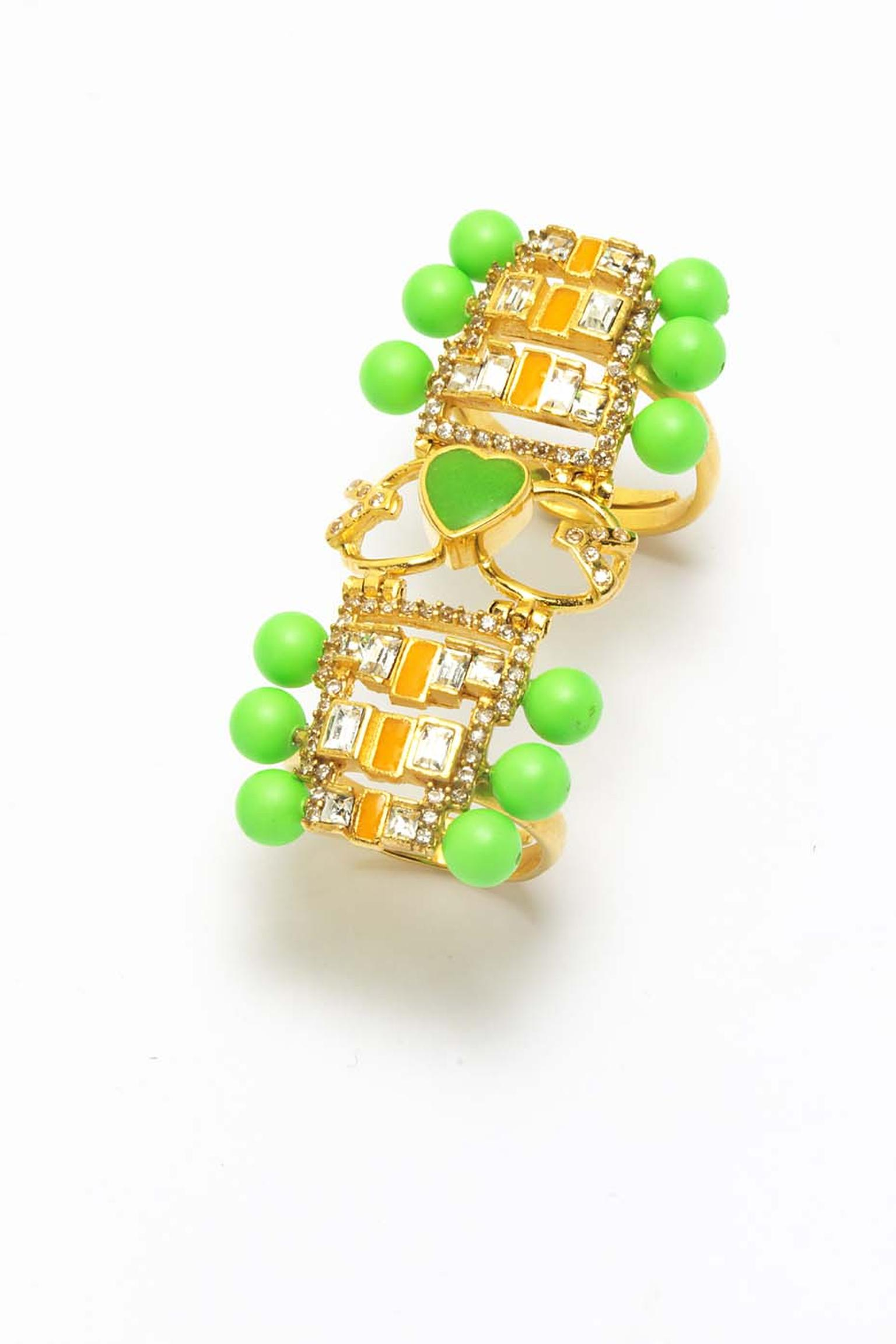Manish Arora for Amrapali Reeka enamelled ring.