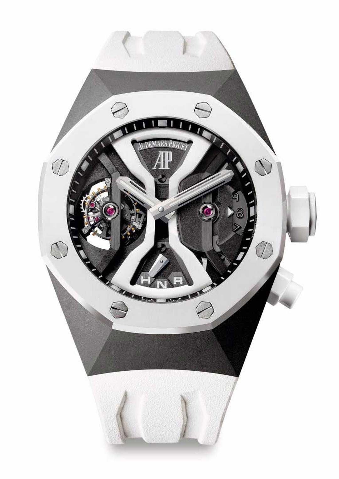The Audemars Piguet Royal Oak Concept GMT Tourbillon, one of the watches on show at the SIAR watch show in Madrid.