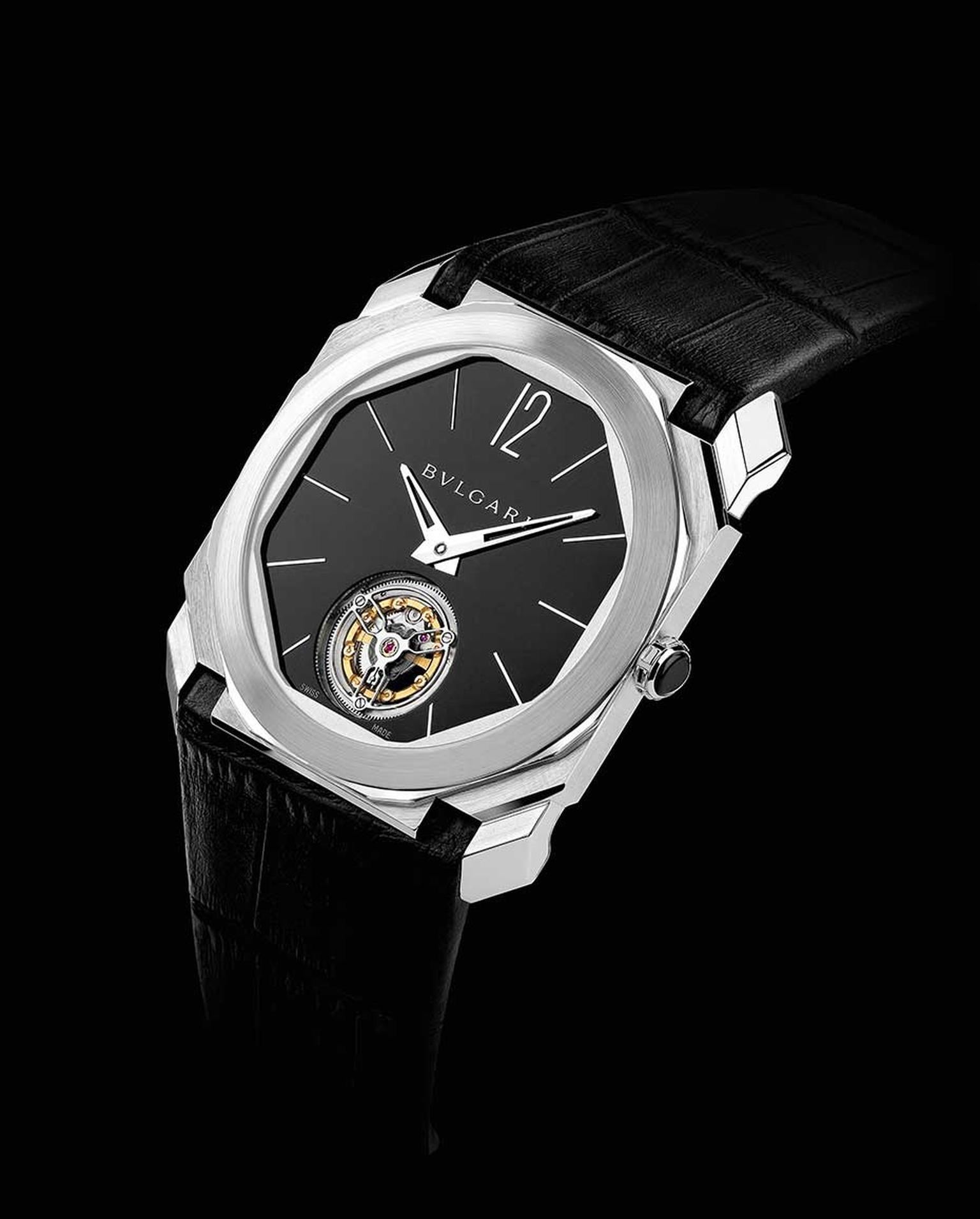 Try on Bulgari's incredibly thin Octo Finissimo Tourbillon watch - the world's thinnest tourbillon - at the SIAR Madrid.