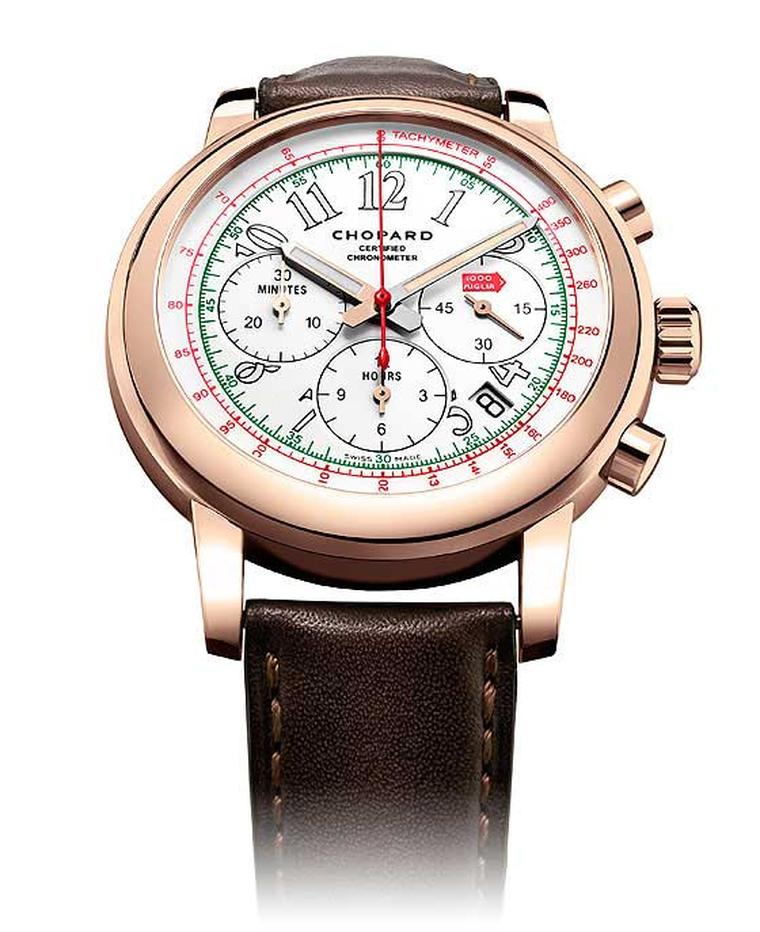 Chopard is hosting a 25-year retrospective of its Mille Miglia race-inspired watches at the SIAR in Madrid.