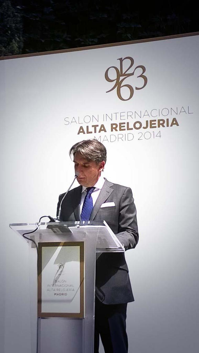 The SIAR Madrid is a sibling of the SIAR Mexico, the most prestigious and influential salon of haute horlogerie in Latin America, founded by Carlos Alonso - pictured at the Madrid opening ceremony - seven years ago.