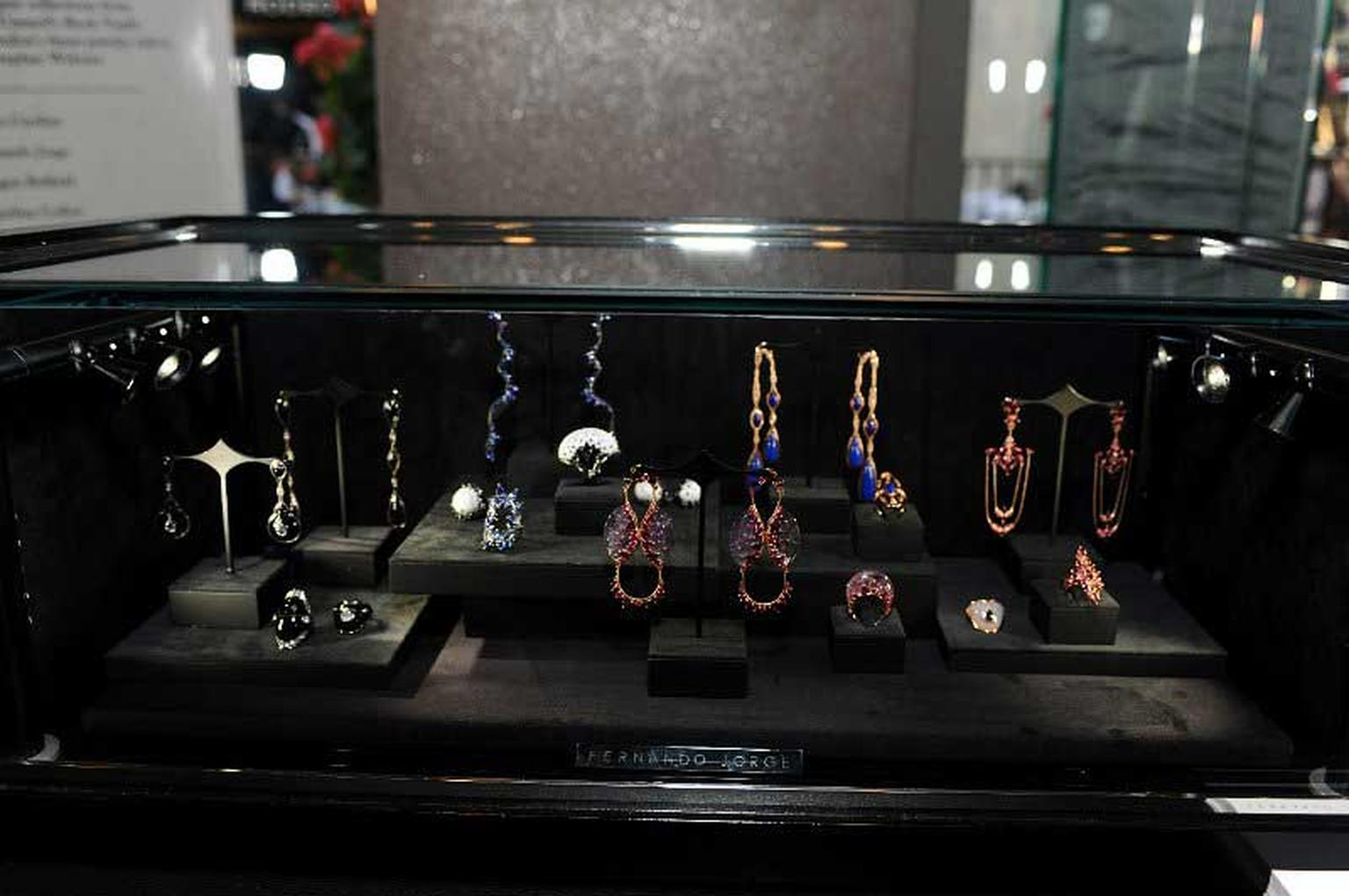 Fernando Jorge displays his colourful jewels at the pop-up Rock Vault store in LA.
