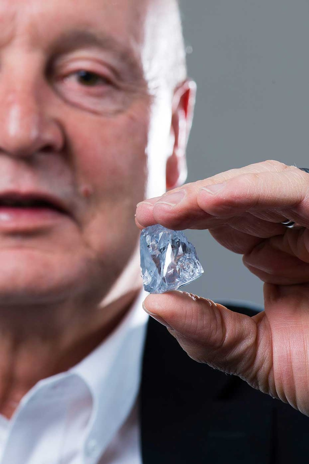 The strawberry-sized blue diamond was unearthed by Petra Diamonds at its Premier Mine in Cullinan, South Africa.