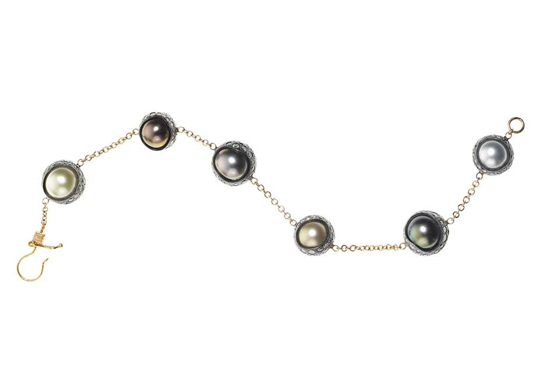Todd Reed Tahitian and South Sea pearl bracelet.