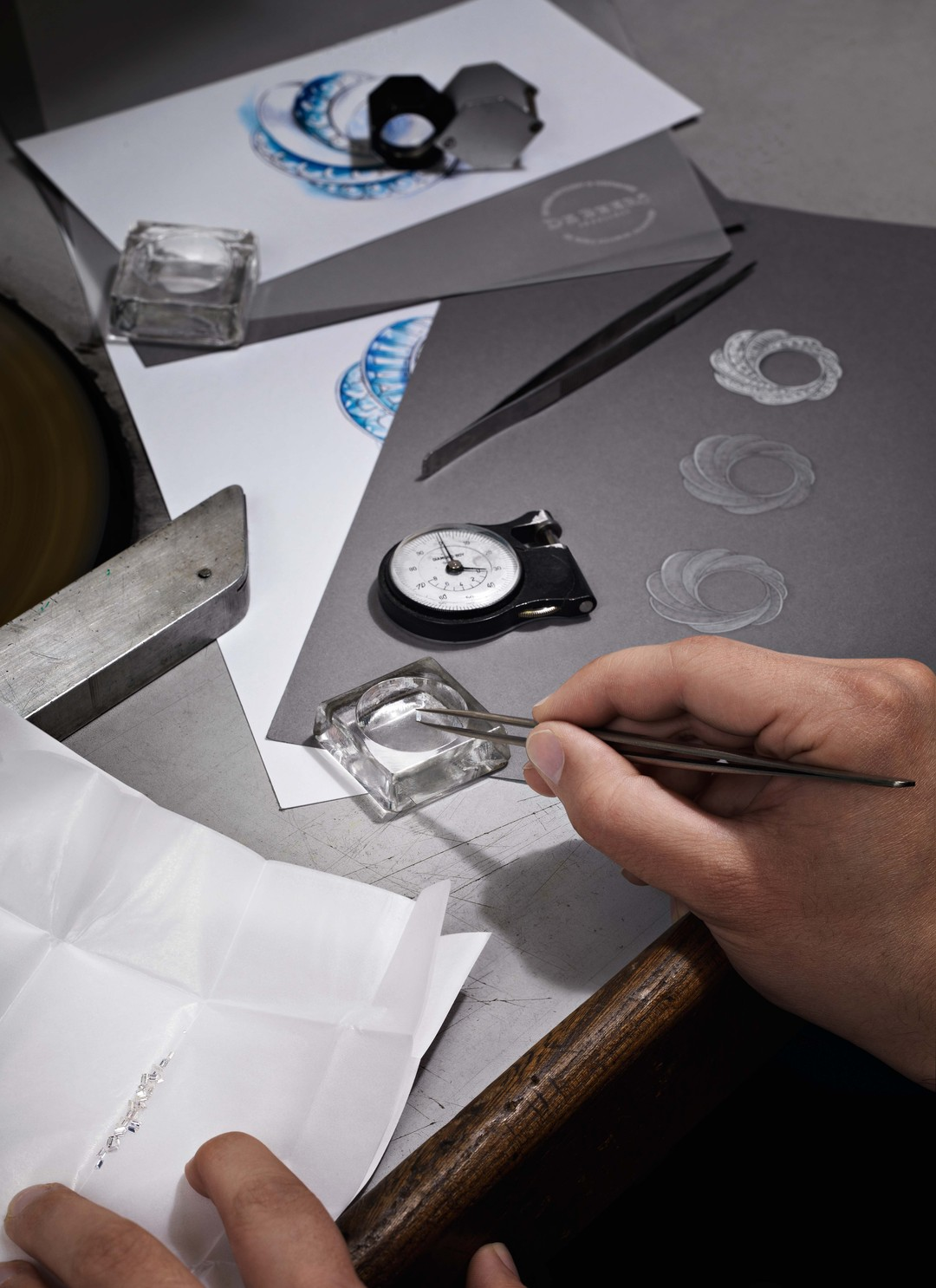 Drawing on more than a century of diamond expertise, each gemstone is selected by hand for De Beers' new Aria watches.