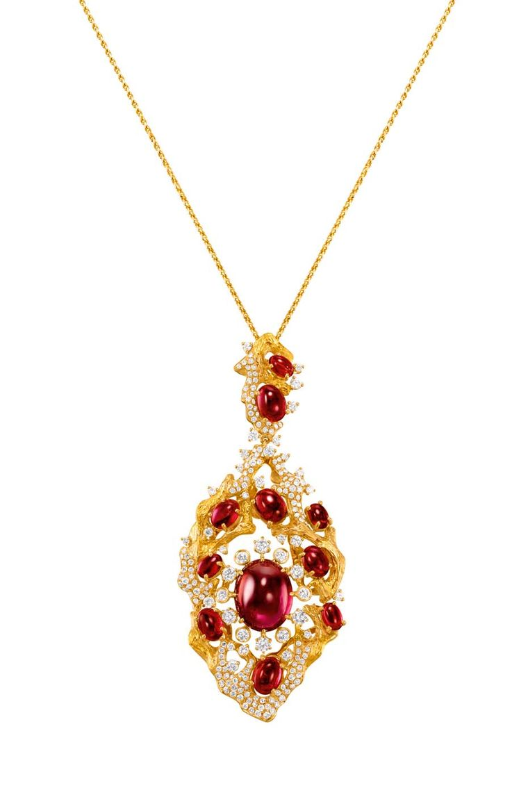 Chow Tai Fook Reflections of Siem gold Chant pendant.